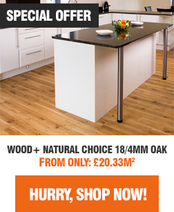 Wood+ Natural Choice Engineered Oak Flooring Sale - Shop Now!