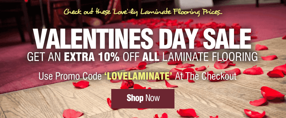 Valentine's Day Sale - 10% off ALL Laminate Flooring!