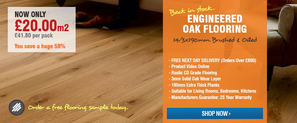 Wood+ Tudor Rustic Engineered Oak Flooring