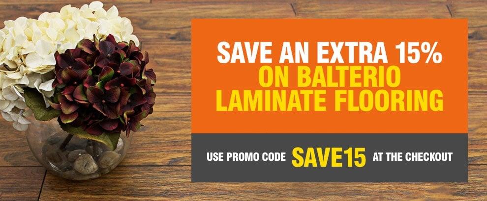 Save 15% off ALL Balterio Laminate Flooring!