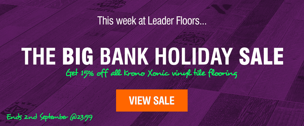 Bank Holiday Sale at Leader Floors