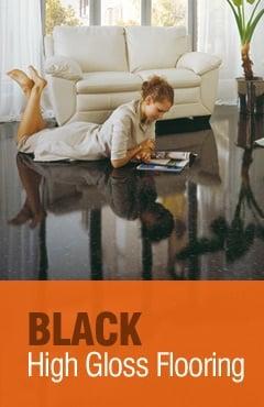 Black High Gloss Flooring