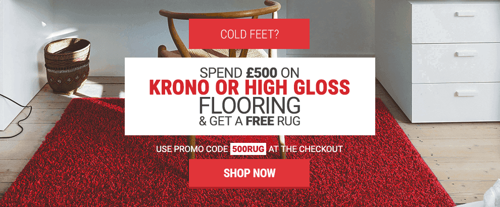 Spend £500 on selected flooring and get a FREE rug