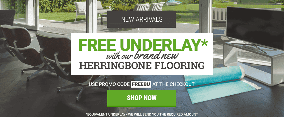 April - Free Underlay with Herringbone
