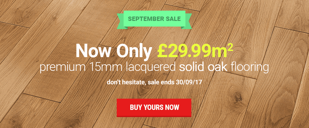 September - New Solid Oak Flooring
