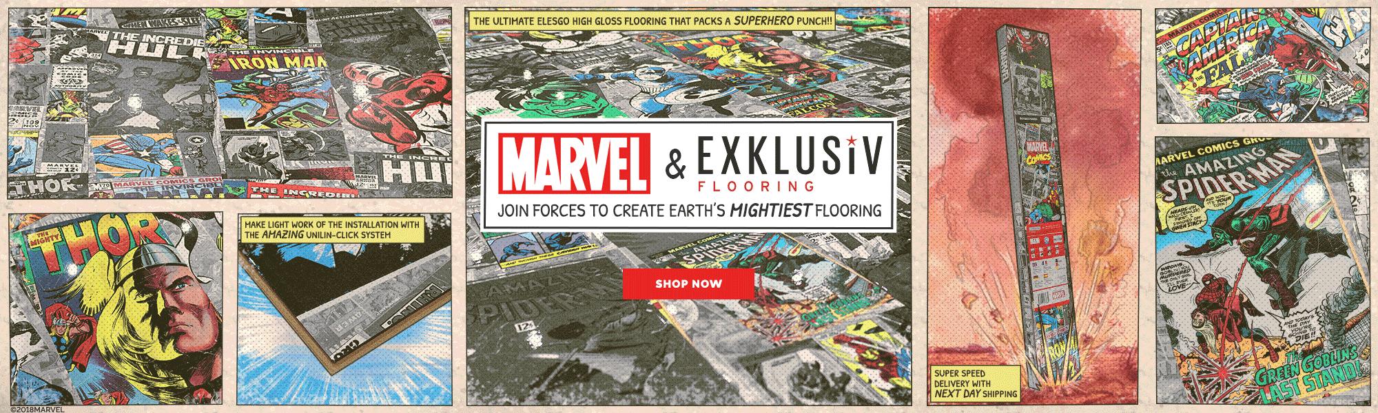 Elesgo Marvel Comic Flooring