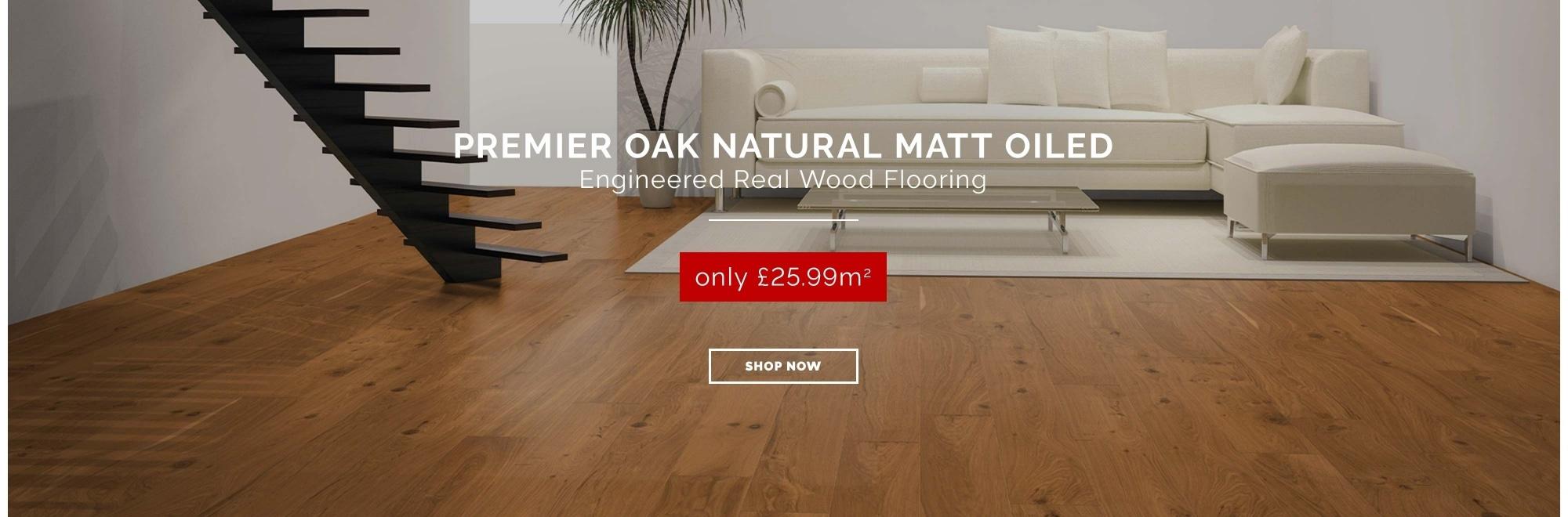 Premier Oak Natural Matt Engineered Flooring