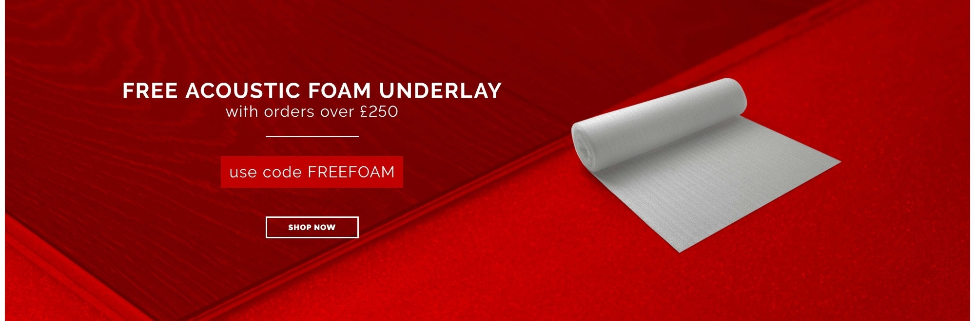 FREE underlay with flooring orders over £250