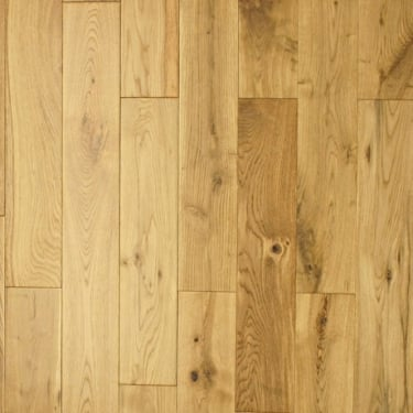 Multi-Layer 18mm x 125mm Oak Lacquered Engineered Real Wood Flooring (2874)