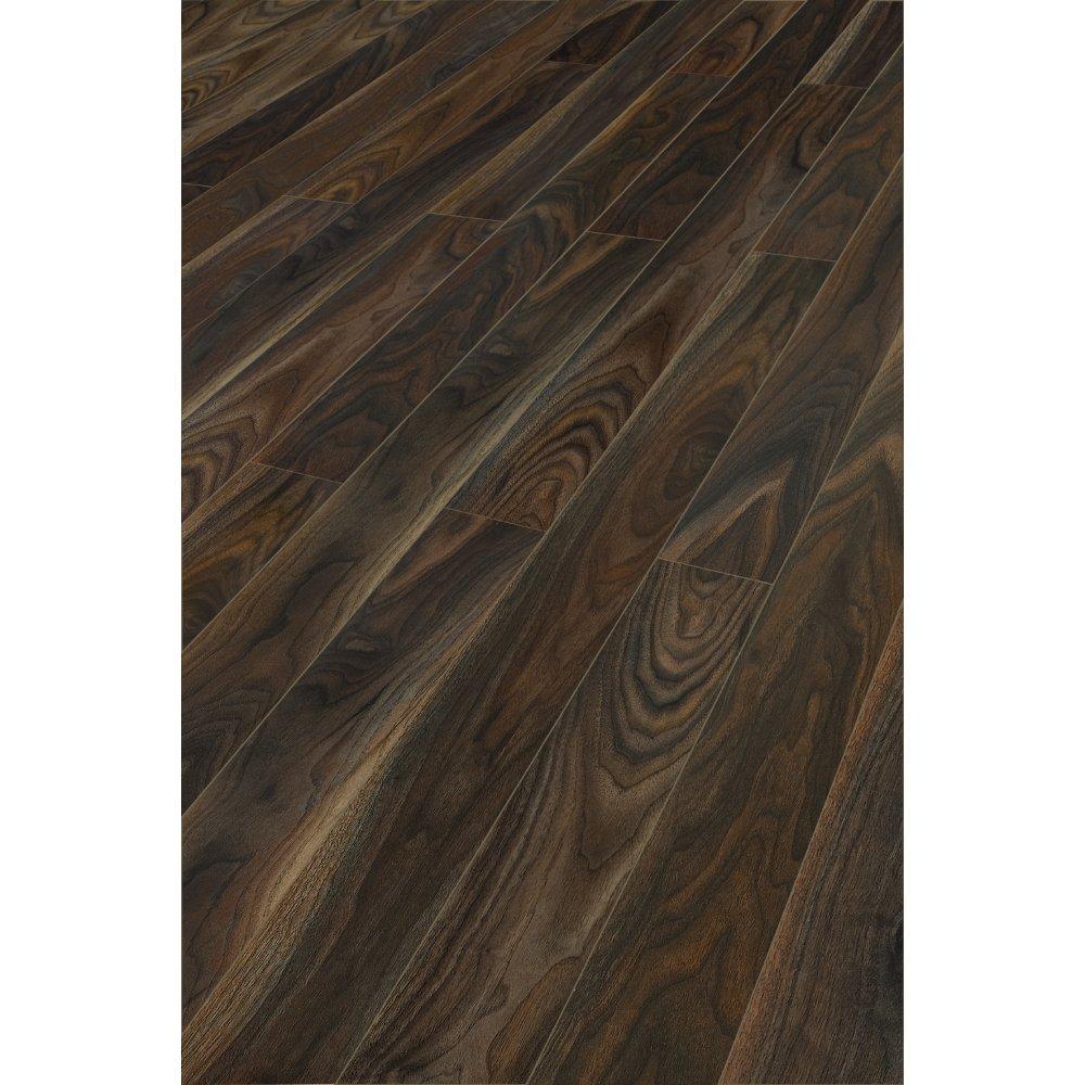 Kaindl natural touch narrow rich walnut 10mm ac4 laminate for Black wood laminate flooring