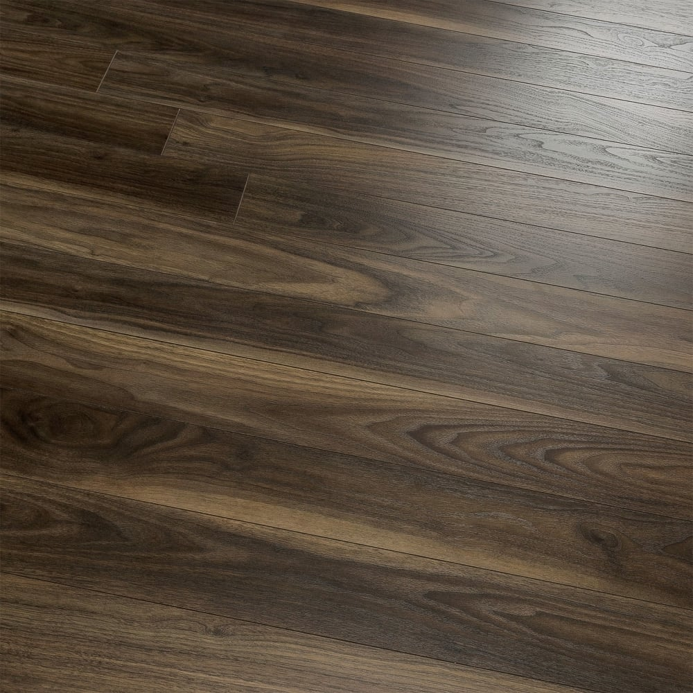 Kaindl natural touch narrow 10mm rich dark walnut laminate for Walnut flooring