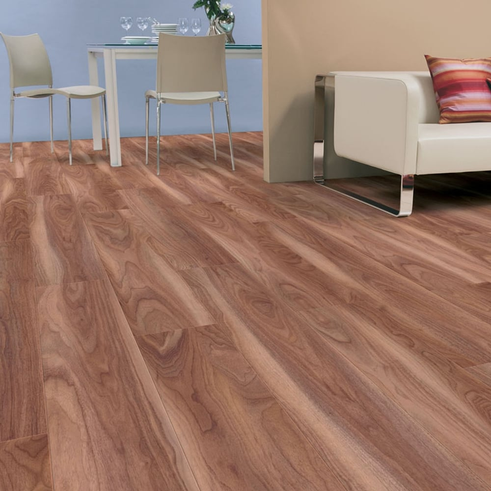 Kaindl natural touch narrow 10mm varnished walnut laminate for Laminate flooring company