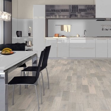 Premier 14mm x 125mm White Stone Oak Matt Lacquered Engineered Real Wood Flooring (LIBEOAK14125WHITE)