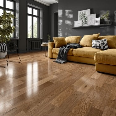 Premier Click 14mm x 125mm Oak UV Lacquered Engineered Real Wood Flooring (SKU-190271)