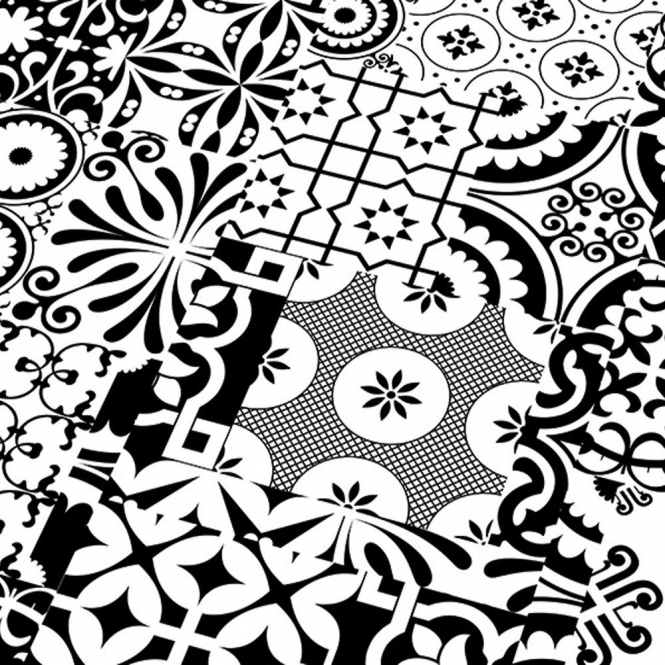 Falquon Quadraic Black White Laminate Tile Flooring Leader Floors