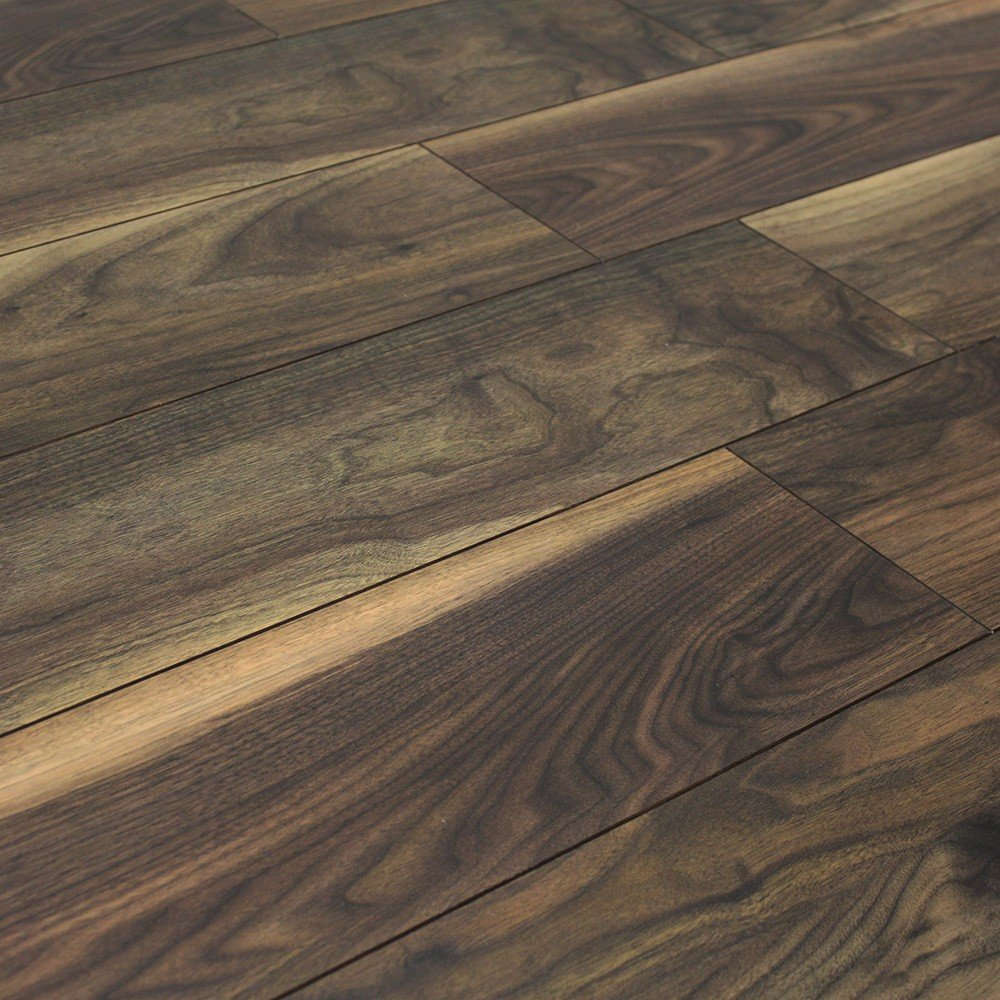 Balterio quattro black walnut 12mm ac4 laminate flooring for Walnut flooring