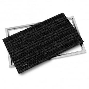 Quickstep Aluminium Brushed Doormat