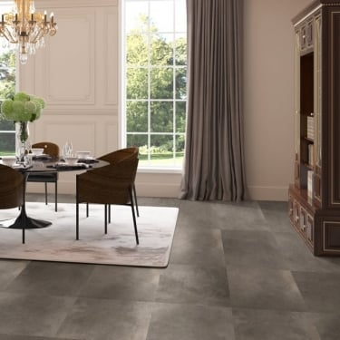 Quickstep Arte 9.5mm Polished Dark Concrete Laminate Tile Flooring