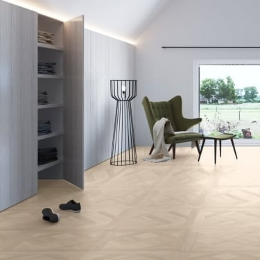 Quickstep Arte 9.5mm Versailles White Oiled Oak Laminate Tile Flooring