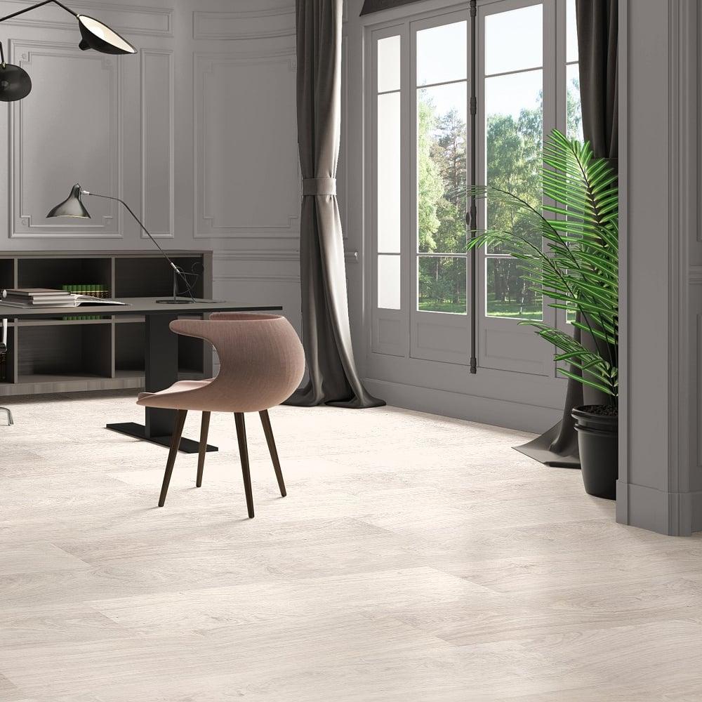 Quickstep Classic 8mm Bleached White Oak Laminate Flooring