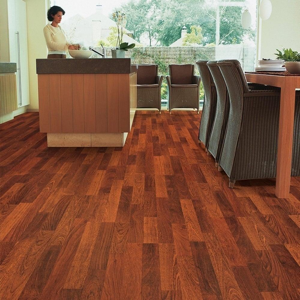 Quickstep classic 8mm enhanced merbau laminate flooring for Quickstep flooring uk