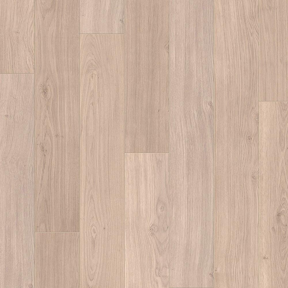 Quickstep elite 8mm light grey varnished oak laminate for Light laminate flooring