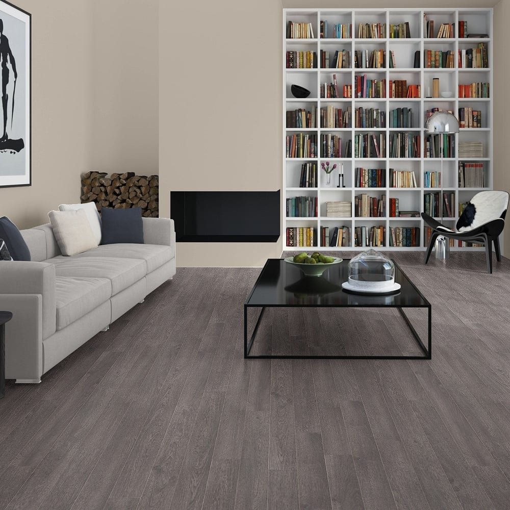 Elite 8mm Old Grey Oak Laminate Flooring (UE1388)