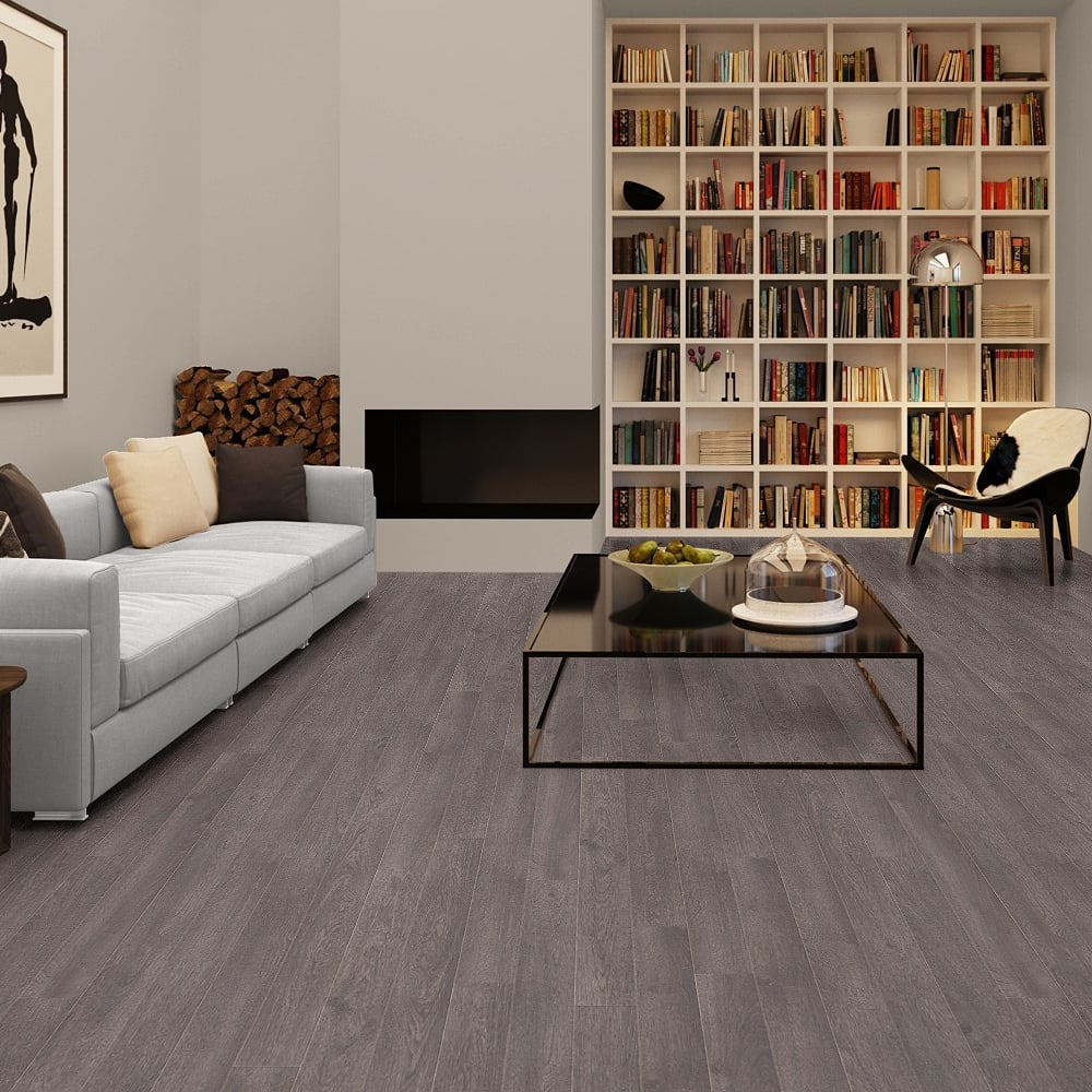 Laminate Flooring Living Room. Elite 8mm Old Oak Grey Laminate Flooring Quickstep  Leader Floors