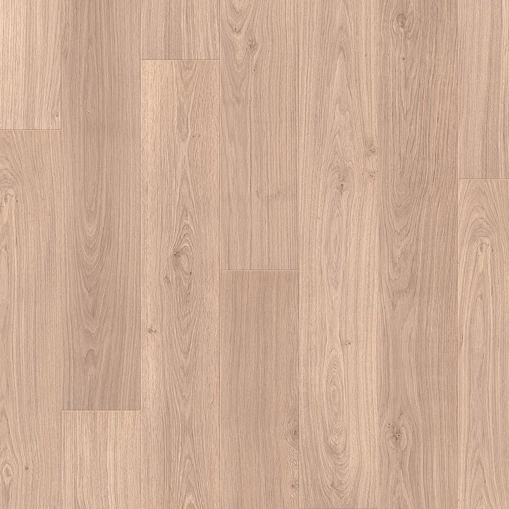 Quickstep elite 8mm worn light oak laminate flooring for Light laminate flooring