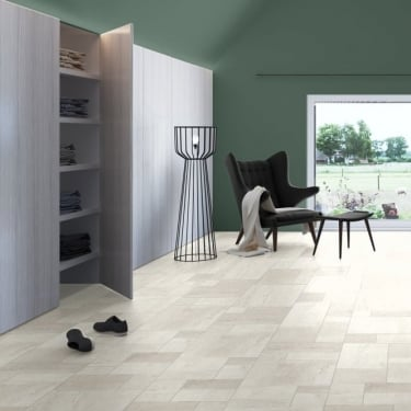 Quickstep Exquisa 8mm Ceramic White Laminate Tile Flooring