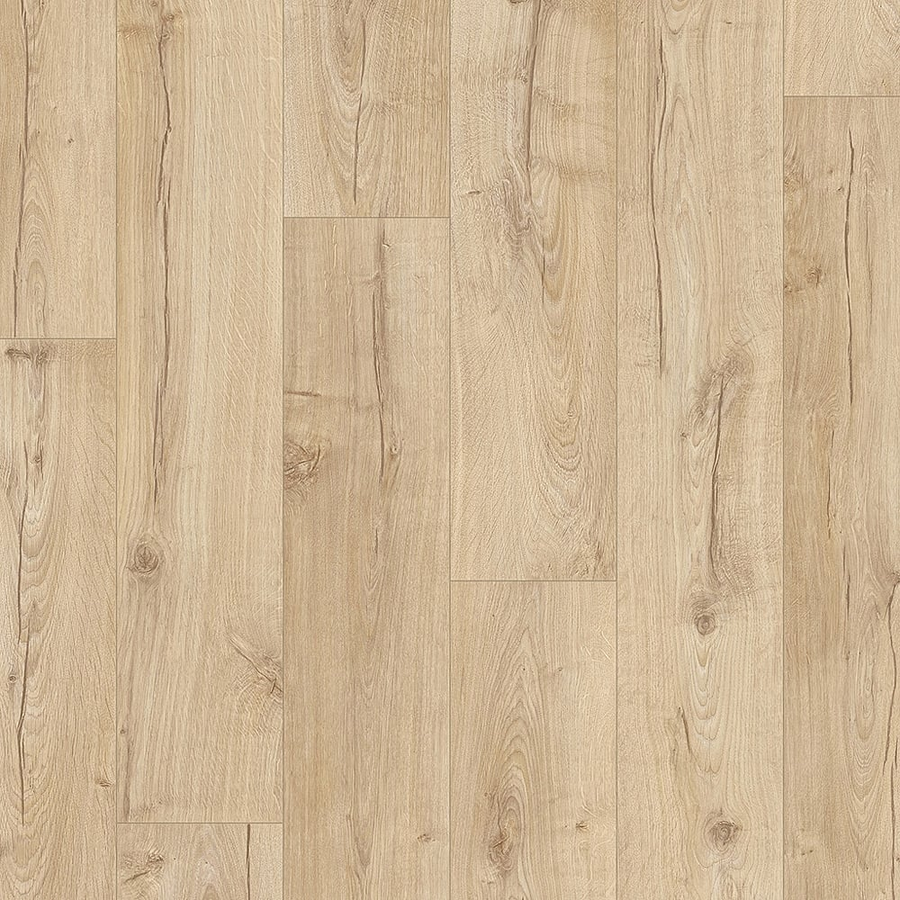 quickstep impressive 8mm classic oak beige laminate. Black Bedroom Furniture Sets. Home Design Ideas