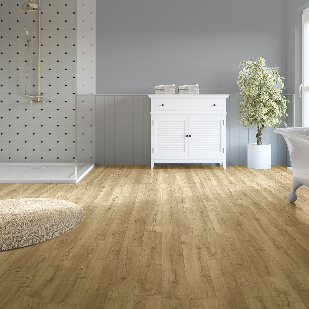 quickstep impressive 8mm classic oak natural laminate flooring leader floors. Black Bedroom Furniture Sets. Home Design Ideas