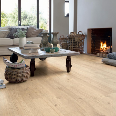 Quickstep Impressive 8mm Sandblasted Natural Oak IM1853 Laminate Flooring