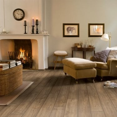 Quickstep Impressive Ultra 12mm Scraped Grey Brown Oak IMU1850 Laminate Flooring