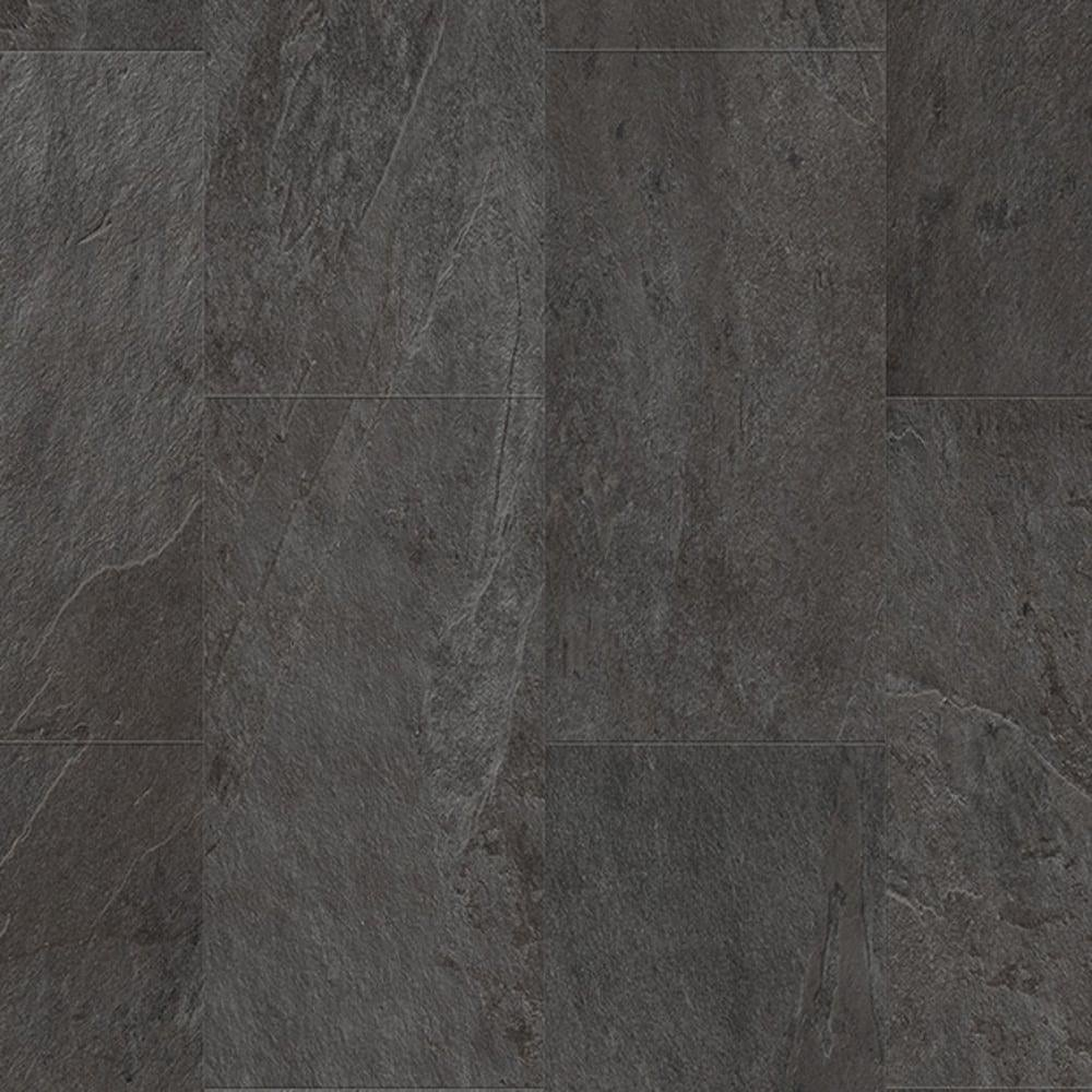 Quickstep Livyn Ambient Click 4 5mm Black Slate Tile Vinyl