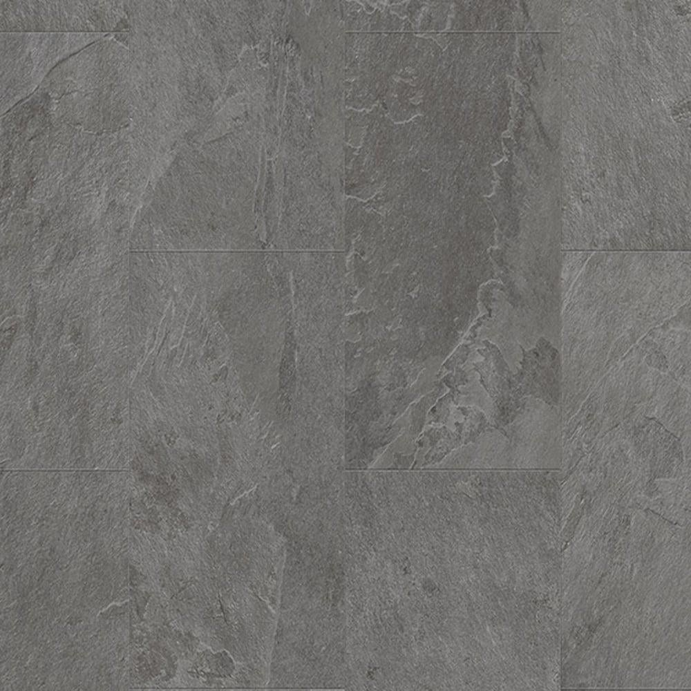 Quickstep livyn ambient click 45mm grey slate tile vinyl flooring livyn ambient click grey slate tile amcl40034 luxury vinyl flooring dailygadgetfo Choice Image