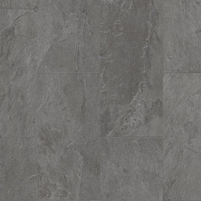 Quickstep Livyn Ambient Click Grey Slate Tile AMCL40034 Luxury Vinyl Flooring
