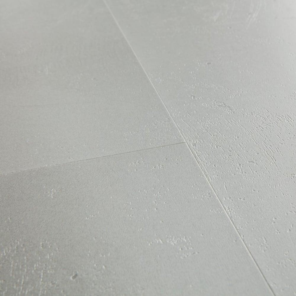 Livyn Ambient Click Minimal Light Grey Tile AMCL40139 Luxury Vinyl Flooring