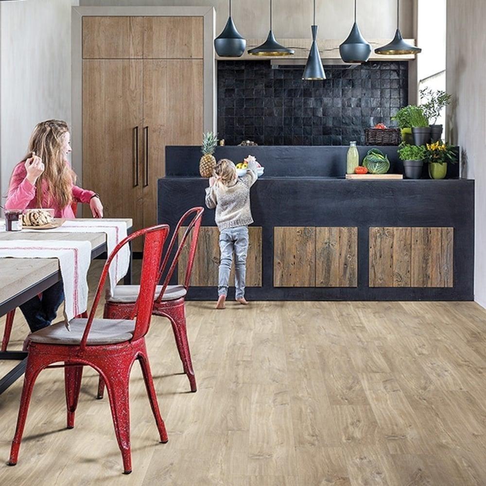 Livyn Balance Click Canyon Oak Light Brown With Saw Cuts BACL40031 Luxury Vinyl Flooring