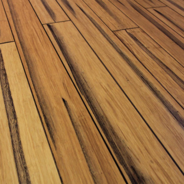 Rustic 14mm x 125mm Natural Strand Woven Bamboo PPG Coated Solid Wood Flooring (SKU-120633)
