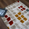 Forever Rugs Sahara 56212-068 Multi Coloured Checked Rug