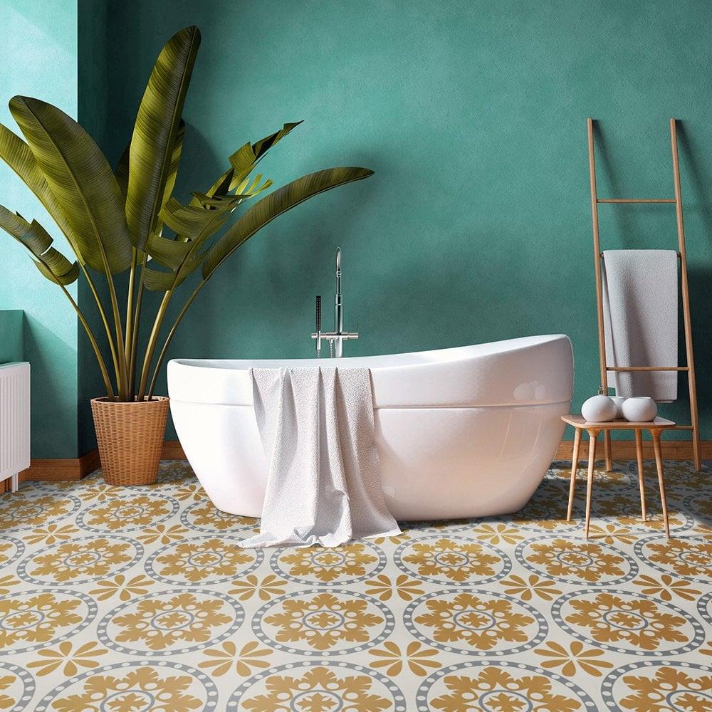 Liberty Floors Self Adhesive 1 5mm, Bathroom Vinyl Tiles Uk