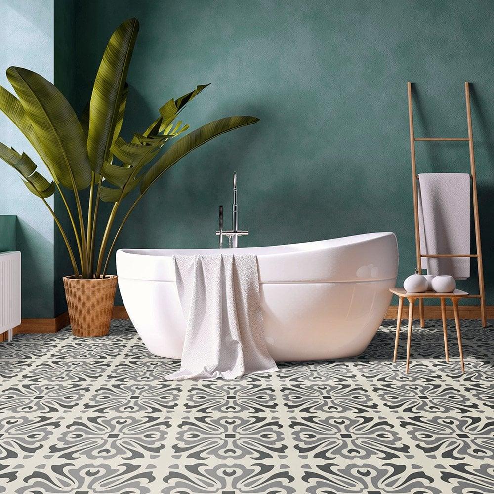 Liberty Floors Self Adhesive 1 5mm, Vinyl Bathroom Tile
