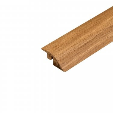 Solid Oak Lacquered Adapting Profile Door Bar
