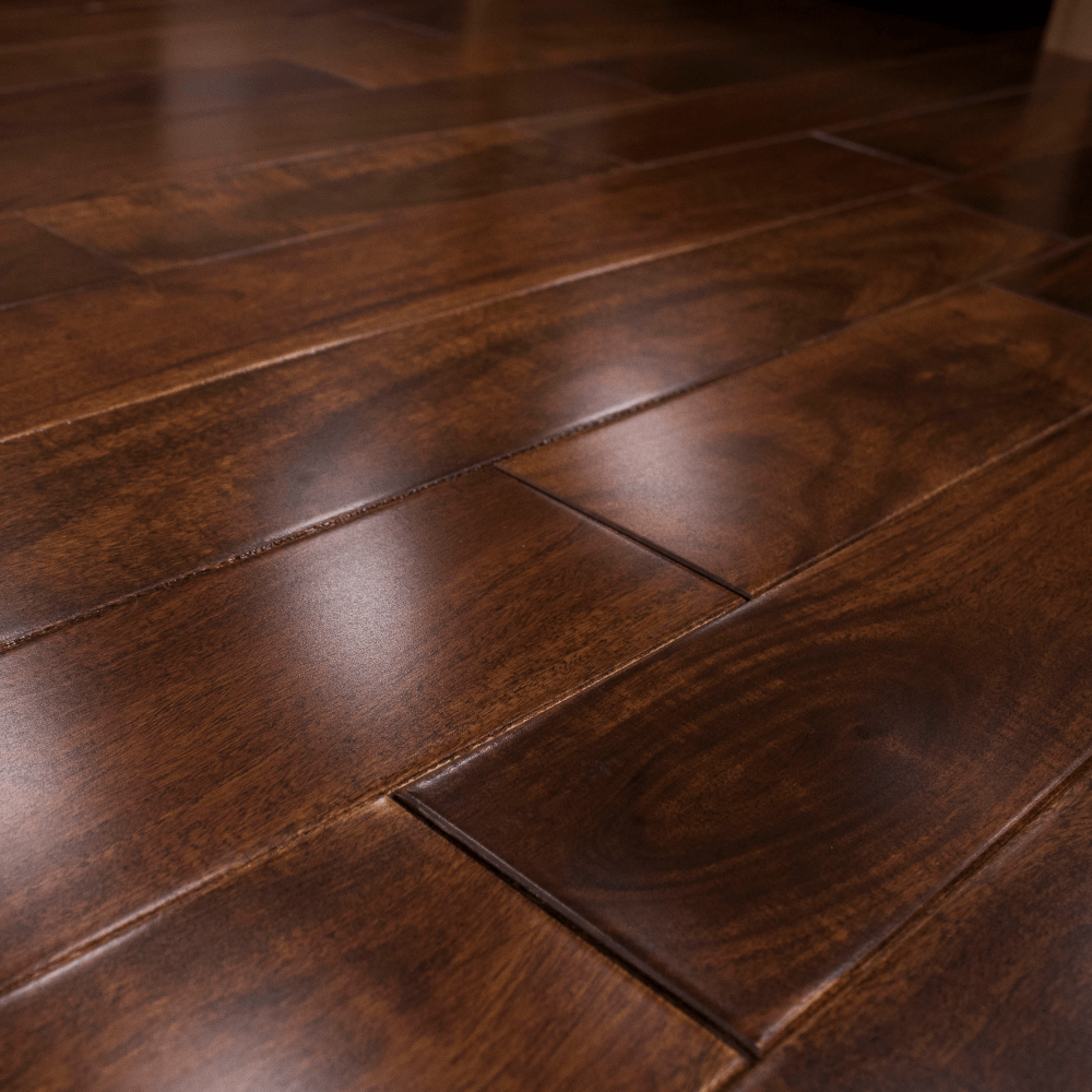 Stained lacquered 18x123mm solid asian walnut flooring for Unfinished walnut flooring