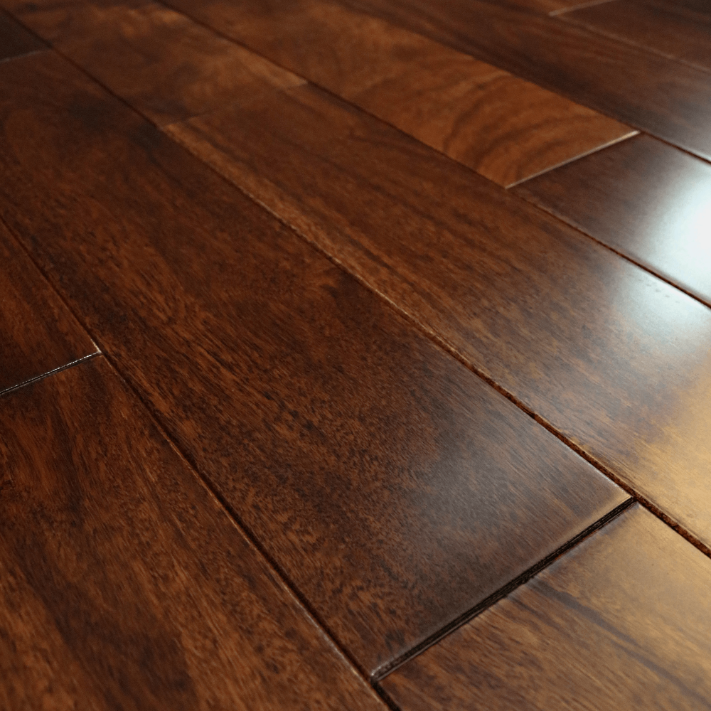 Stained Amp Lacquered 18x123mm Solid Asian Walnut Flooring