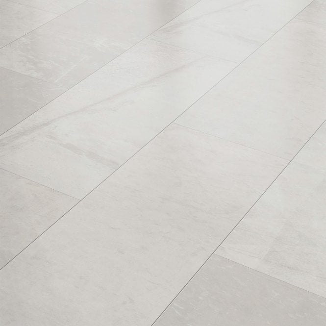 Liberty Floors Stellato 8mm Concrete, White Tile Laminate Flooring