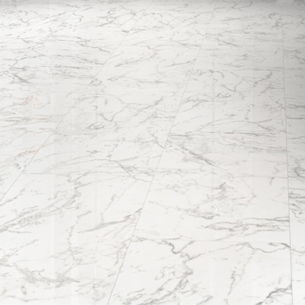 High Gloss Tile Laminate Flooring, White Marble Laminate Flooring