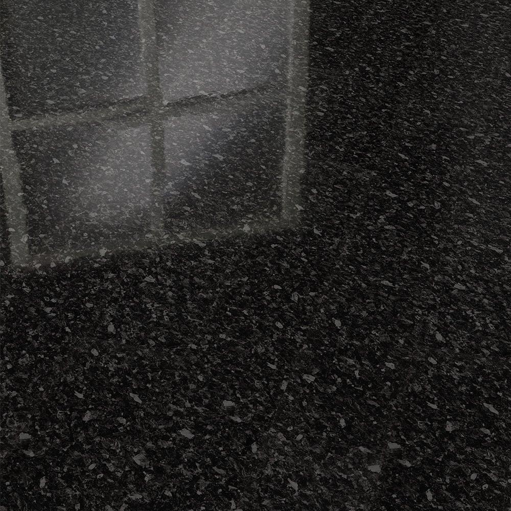 Elesgo supergloss flat edge 7mm black pearl high gloss for Black laminate flooring