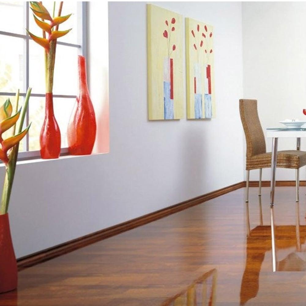 Supergloss Extra Sensitive 8 7mm Black Walnut High Gloss Laminate Flooring 772322